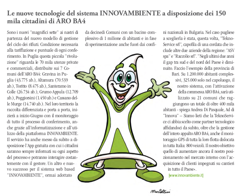 Igiene ambientale e tecnologia su GSA Igiene Urbana